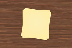 Yellow Sticky Post It Notes Royalty Free Stock Photo