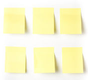 Yellow Sticky reminder note waiting for your message. Stock Image