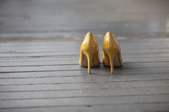 Yellow Stiletto Royalty Free Stock Photography