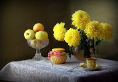 Yellow still life Royalty Free Stock Image