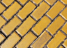 Yellow stone pavement. Street with yellow stone pavement Royalty Free Stock Images