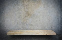 Stone rock shelf counter on gray for product display stock images