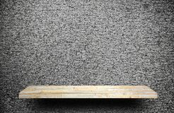 Stone rock shelf counter on gray cement for product displ stock images
