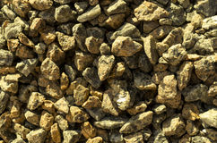 Yellow stones gravel texture macro Stock Photography