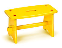 Yellow stool Stock Images