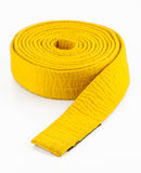 Yellow strap in martial arts Royalty Free Stock Photo