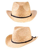 Yellow straw hats Stock Photo