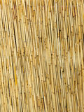 Yellow straw mat surface pattern background texture. Stock Images