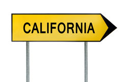 Yellow street concept sign California isolated on white Stock Photography