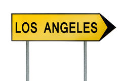 Yellow street concept sign Los Angeles isolated on white Royalty Free Stock Images