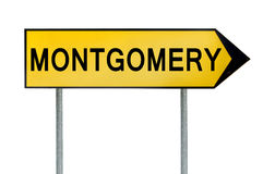 Yellow street concept sign Montgomery isolated on white Royalty Free Stock Image