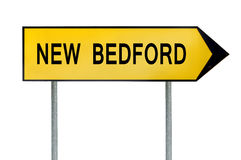 Yellow street concept sign New Bedford isolated on white. Close Stock Photography