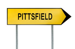 Yellow street concept sign New Pittsfield isolated on white. Close Stock Photography