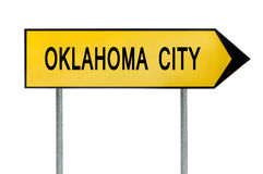 Yellow street concept sign Oklahoma City isolated on white Stock Photos