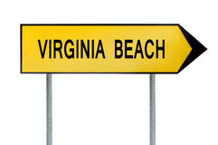 Yellow street concept sign Virginia Beach isolated on white Royalty Free Stock Images