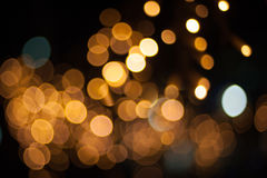 Yellow street lights Royalty Free Stock Images