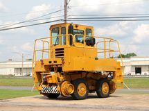 Yellow Street Spraying Construction Equipment Royalty Free Stock Images