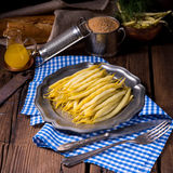 Yellow string bean with bread crumbs Royalty Free Stock Images