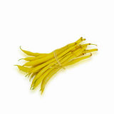 Yellow string beans on white Royalty Free Stock Photos