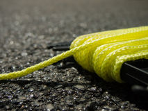 The Yellow String on the Ground at the Constructionsite. (Construction Stock Image