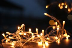 Yellow String Lights Royalty Free Stock Images