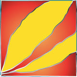 Yellow strip orange red background Royalty Free Stock Photos