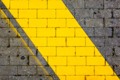 Yellow stripe Stock Photography