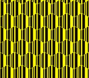 Yellow striped hexagons, honeycomb seamless pattern, vector background. Royalty Free Stock Photos