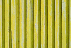 Yellow striped wooden background texture Stock Photography