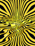Yellow Liquid Stripes. Yellow stripes with a wavy twist and an addition of depth royalty free illustration