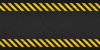 Free Yellow Stripped Rectangle On Black Background. Blank Warning Sign. Warning Background. Template.  Under Construction. Vector Illus Royalty Free Stock Photos - 170842178