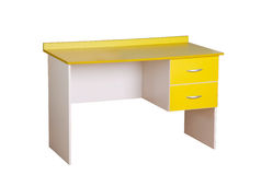 Yellow study desk Royalty Free Stock Image