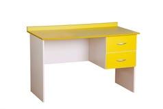 Yellow study desk Royalty Free Stock Image