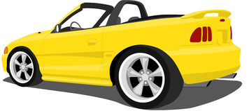 Yellow Stylized Mustang. A Vector .eps illustration of a Yellow Mustang. Saved in layers for easy editing. See my portfolio for more automotive images vector illustration