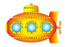 Yellow submarine Royalty Free Stock Image