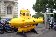 Yellow submarine,Monaco Royalty Free Stock Photo