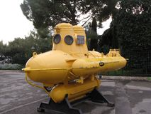 Yellow submarine in Monte Carlo town. royalty free stock photo