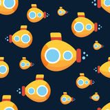 Yellow submarine pattern Royalty Free Stock Photography