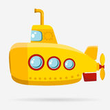 Yellow Submarine with periscope Stock Photography