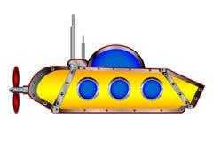 Yellow submarine on white. Royalty Free Stock Images