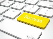 Yellow success button Stock Photo