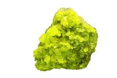 Yellow sulphur stone Royalty Free Stock Photo