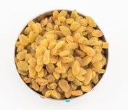 Yellow sultanas raisins Royalty Free Stock Photos