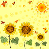 Yellow summer background Royalty Free Stock Photo