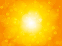 Yellow summer brightly background with circles royalty free illustration