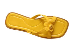 Yellow summer shoe Royalty Free Stock Image
