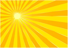 The yellow summer sun Stock Photo