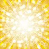 Yellow summer sun light burst. Royalty Free Stock Photo