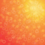 Yellow summer sun light burst. Stock Photography