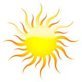 Yellow sun Stock Image